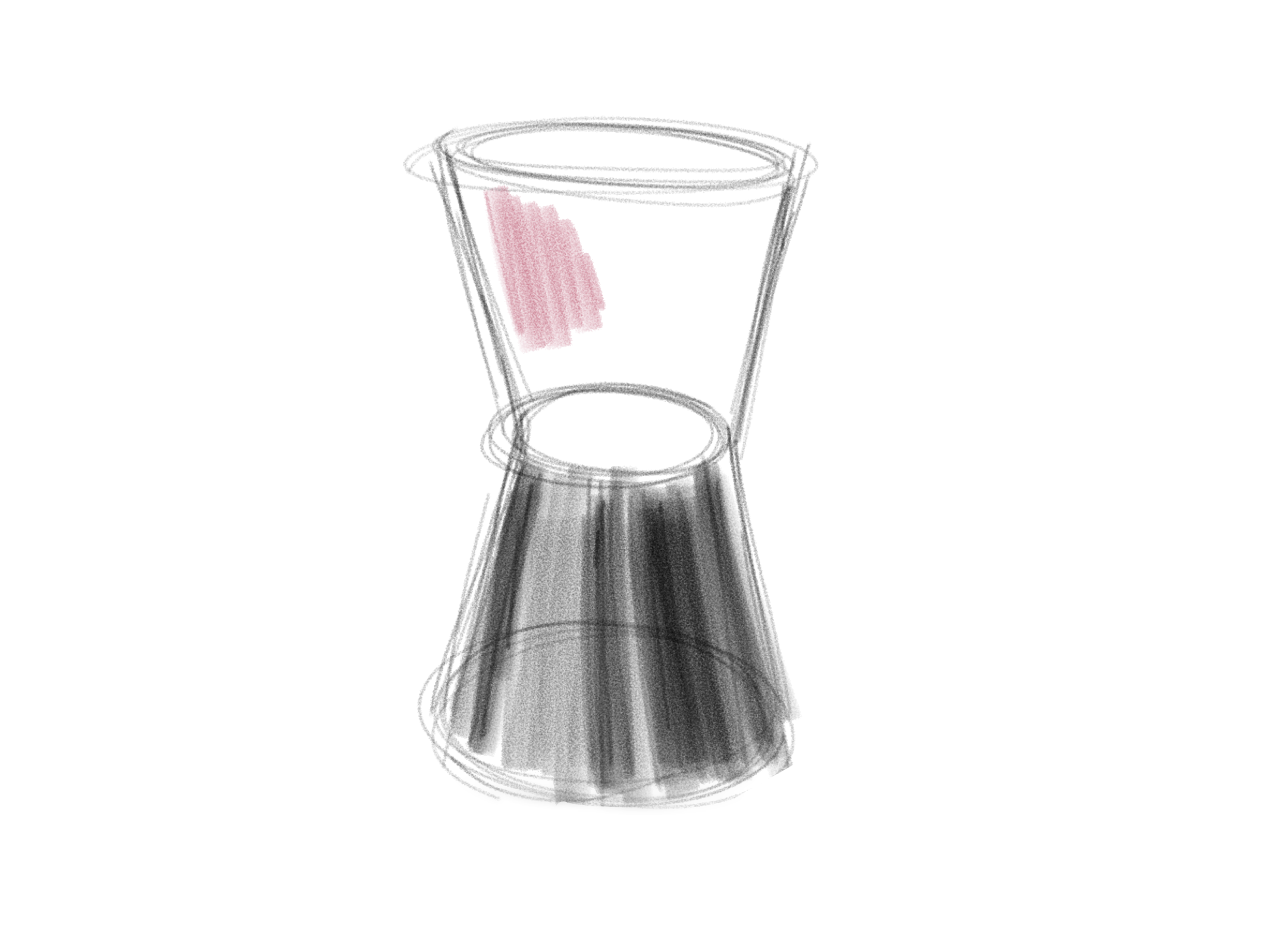 Concept 3: an hourglass